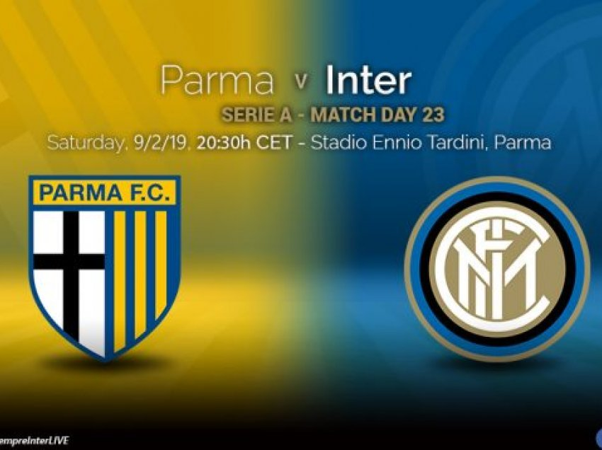 Formacionet zyrtare: Parma – Inter