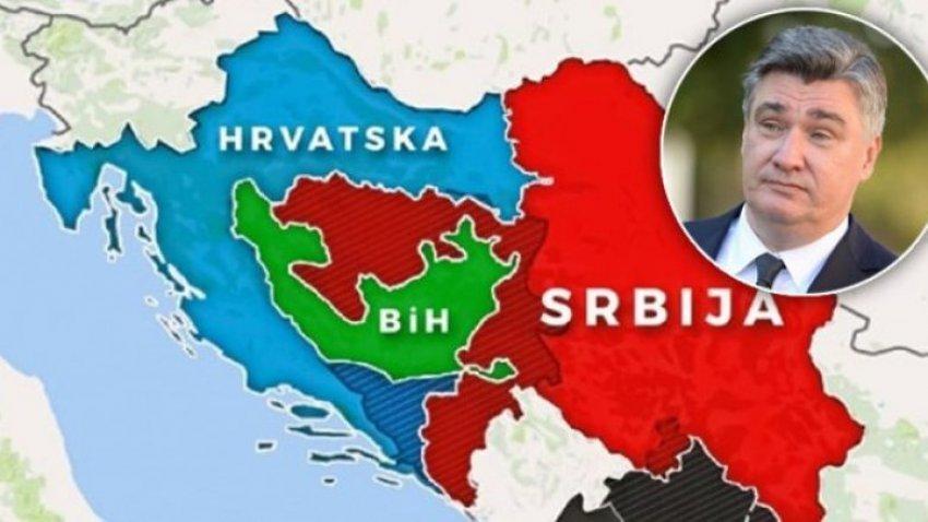 Presidenti kroat deklarohet për 'dokumentin' që parasheh ridefinimin e kufijve në Ballkan