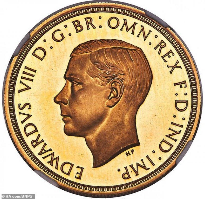 Monedha e arit nga koha e mbretit Edward VIII shitet me çmim rekord