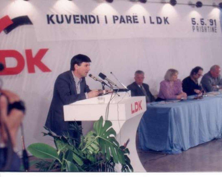 Kuvendi i parë i Lidhjes Demokratike të Kosovës
