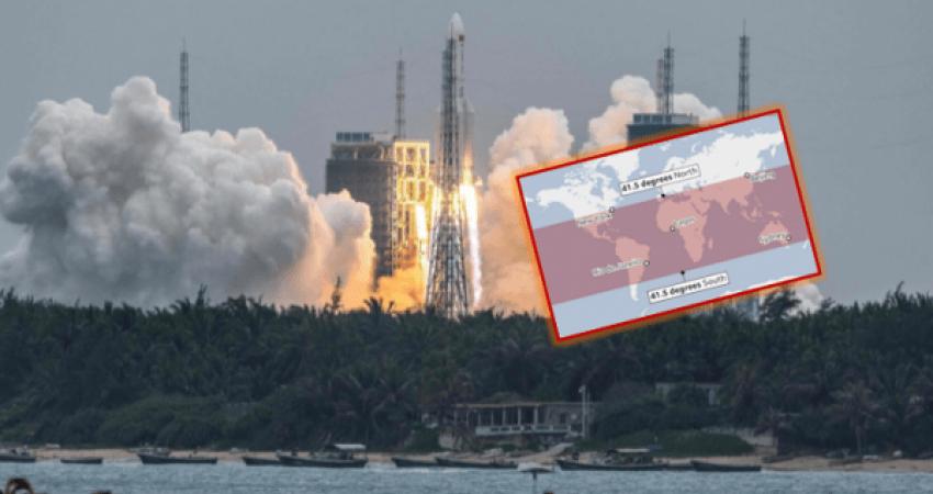 Del harta se ku mund të bie raketa kineze, a është Kosova brenda saj?
