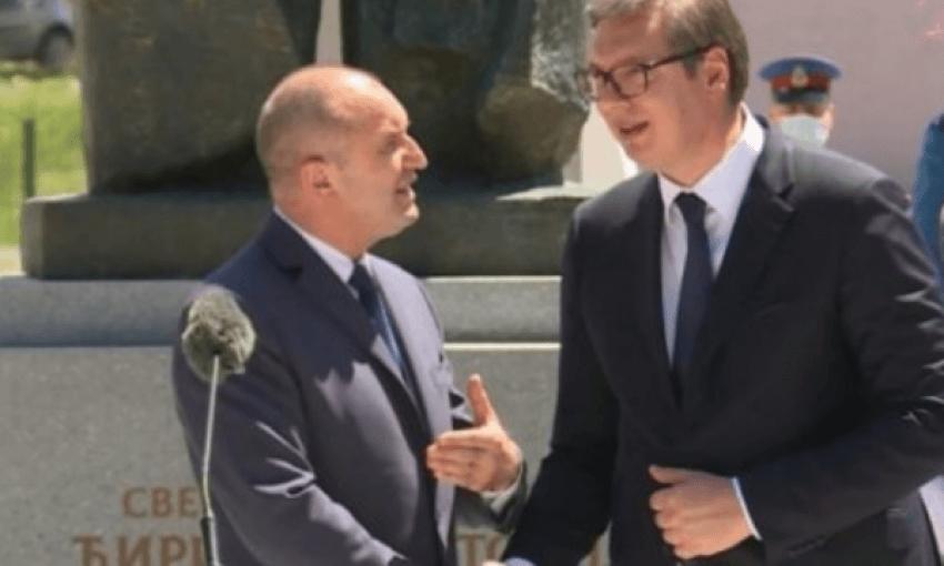 Incident gjatë takimit të Vuçiqit me presidentin e Bullgarisë
