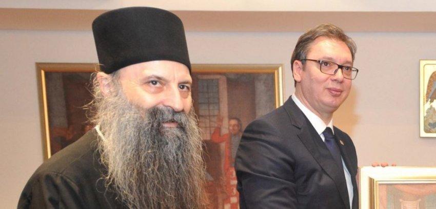 Vuçiq sot bisedon me patriarkun Porfirije rreth situatës në Kosovë dhe objekteve të shenjta serbe
