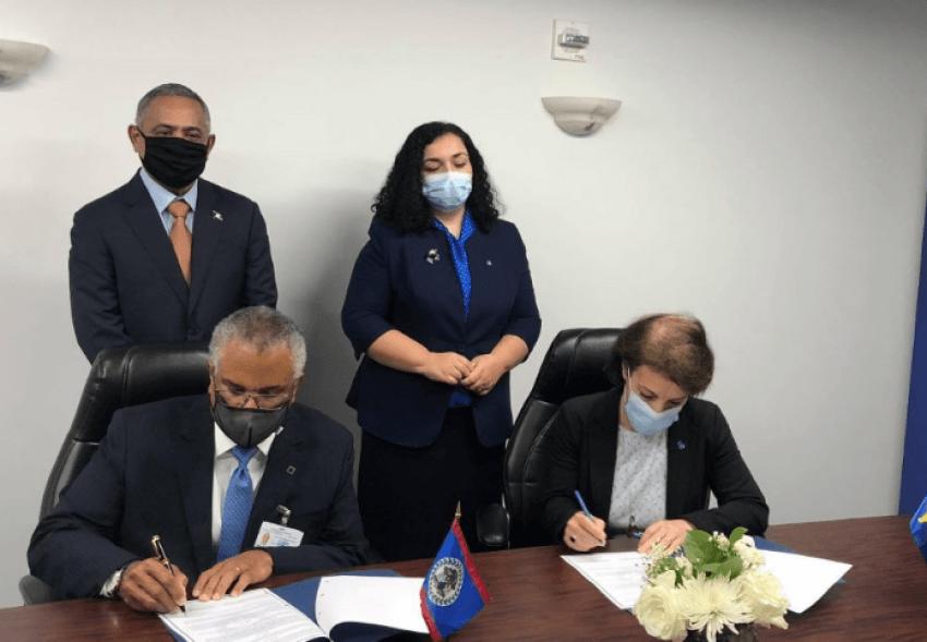 Ministrja Gërvalla nënshkruan memorandum me shtetin e Belizesë